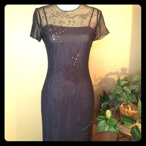 Floor Length Black/Silver Evening Gown GORGEOUS